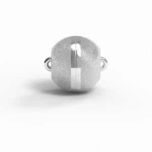 Magnet Kugel classic Silber 925 rhodiniert