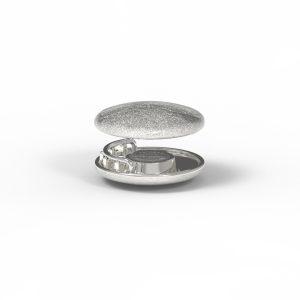 Magnet Linse closeX Silber 925 feinversilbert