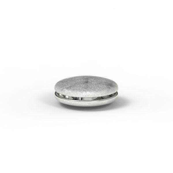 Magnet Linse close Silber 925 feinversilbert