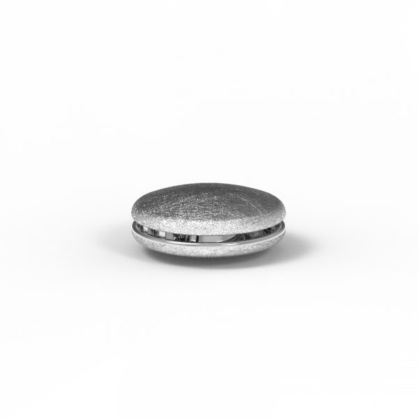 Magnet Linse close Silber 925 rhodiniert