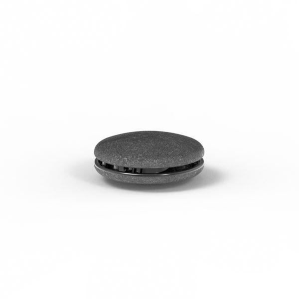 Magnet Linse close Silber 925 schwarz rhod.
