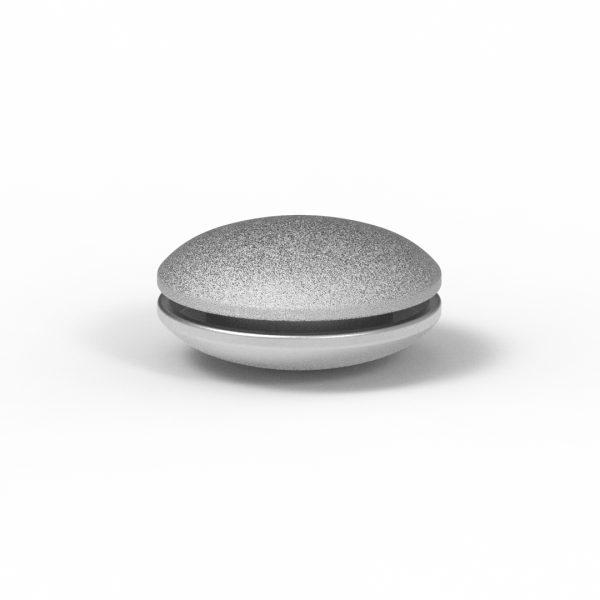 Magnet Discus close Silber 925 rhodiniert