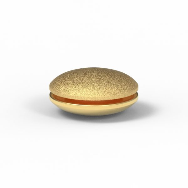 Magnet Discus close Silber 925 5my vergoldet
