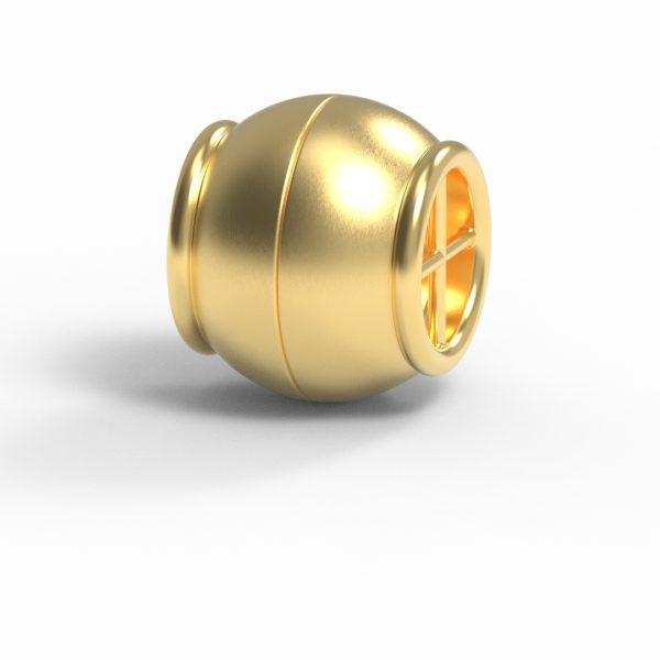 Magnet Kugel Netz Silber 925 5my vergoldet